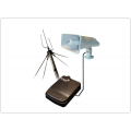TM-2400RS+TM-P115 Additional broadcasting Remote unit with small antenna and voice loudspeaker. Range up to 10km